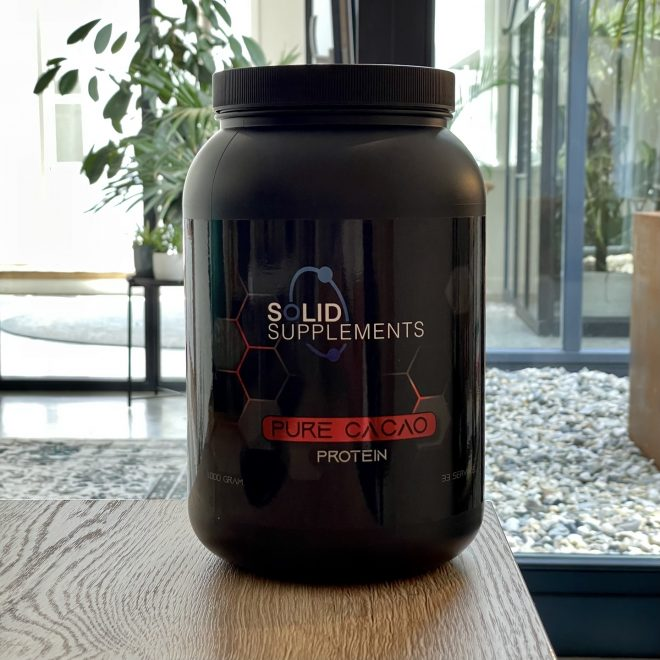 Pure cacao protein van Solid Supplements