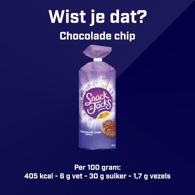 Snack a Jacks - Chocolade chip